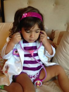 Dressed up as Doctor McStuffins